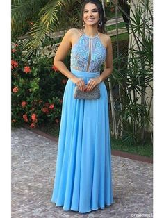Prom Dresses Ball Gown, Charming A Line Halter Chiffon Blue Lace Long Prom Dress, Elegant Formal Evening, from the ever-popular high-low prom dresses, to fun and flirty short prom dresses and elegant long prom gowns. Long Prom Gowns, Backless Prom Dresses, Tulle Prom Dress, Grad Dresses, Mermaid Dresses, Formal Evening Dresses, Bridesmaid Dresses, Party Dresses, Dress Formal
