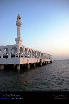 The famous Floating Mosque - Jeddah Makkah Road, Makkah- Saudi Arabia