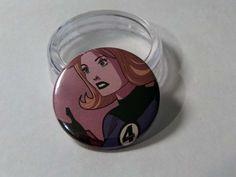 Comic Book 1.5 Button// Fantastic Four// Invisible Woman, $1.00
