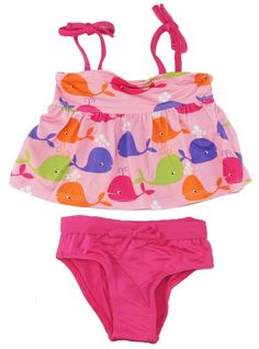 Pink Platinum Infant Girls 12-24M 2 Pc Pink Ocean Whales UVPtotection Swim Suit - Listing price: $24.99 Now: $9.49