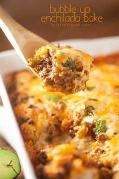 Forget tortillas! This enchilada recipe uses biscuits and is a real family favorite!