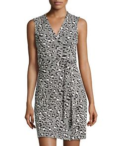 Spotted Floral Cat Wrap Dress by Diane von Furstenberg at Neiman Marcus Last Call.