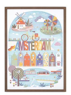 Beautiful Amsterdam (50x70cm)  My Lovely Spot  Beautiful Amsterdam (50x70cm)  Design by My Lovely Spot