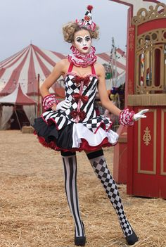 Leg Avenue 6 PC. Deluxe Harlequin Clown Costume $201.95
