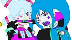 Oh boy. They're at it again XD Candy Cane and Candy Pop Jack Y Jill, Candy Pop, Fnaf, Candy Cane, Deviantart, Memes, Drawings, Artist, Anime