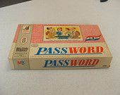 Password---loved my Mom's old games!
