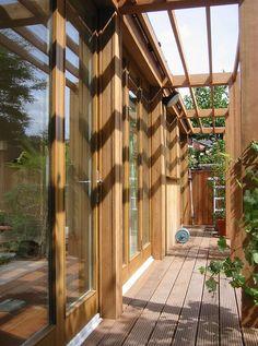 cedar pergola before growth of the wisteria www. Cedar Pergola, Garden Studio, Wisteria, Dublin, Houses, Room, Home Decor, Homes, Bedroom