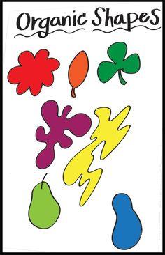Organic shapes poster Shape Chart, Art Room Posters, Art Handouts, First Grade Art, Art Cart, Art Worksheets, Organic Shapes, Natural Shapes, Art Classroom
