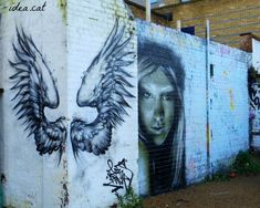 wings On www.idea.cat  #london #streetart #graffiti