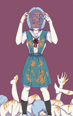 Rei not-a-doll Ayanami Neon genesis evangelion Neon Genesis Evangelion, The End Of Evangelion, Rei Ayanami, Manga Anime, Anime Art, Manga Girl, Anime Girls, Evangelion Tattoo, Cute Anime Couples