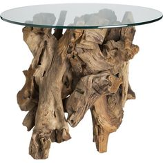 Bought this...missing the ocean...Driftwood Side Table in Side, Coffee Tables | Crate and Barrel