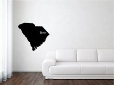 South Carolina Vinyl, South Carolina State Decal, States, United States, State Decal, Vinyl, Adhesive Vinyl, Removable Vinyl, Matte, Decals by wildoakvinyl on Etsy