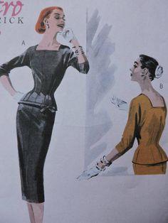 Top & Skirt Retro '55 Fashion Butterick 5557 Pattern Uncut Pdf Patterns, Cool Patterns, Cross Stitch Patterns, Fashion Patterns, Costume Patterns, Fabric Bows, Vintage Fashion, Retro