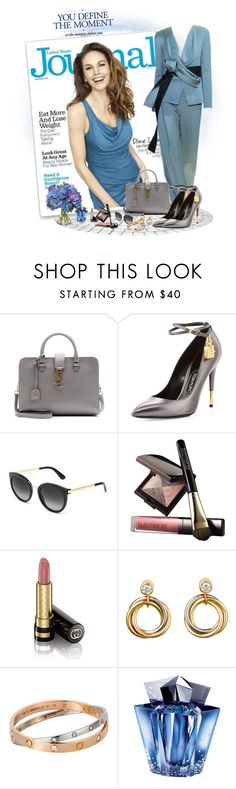 """""""There's something about you..."""" by akhesa10 ❤ liked on Polyvore featuring Armani Privé, Yves Saint Laurent, Tom Ford, Laura Mercier, Gucci, Cartier, Thierry Mugler and Diane James"""