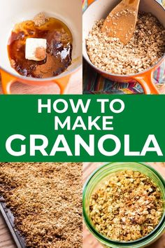 Learning How to Make Granola at home is the best way to save money and enjoy healthy breakfasts every day. So easy, crispy, and versatile, this vanilla and cinnamon flavored granola is sure to become a new pantry staple! How To Make Granola, Cravings, Healthy Breakfasts, Homemade, Dishes, Baking, Pantry, Brooklyn, Cinnamon