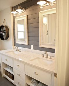 @itsmemeags' bathroom has us OBSESSED with shiplap #country #homedecor