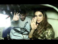 Ranveer Singh & Deepika Padukone At Filmfare Editor Jitesh Pillai's Birthday Party.