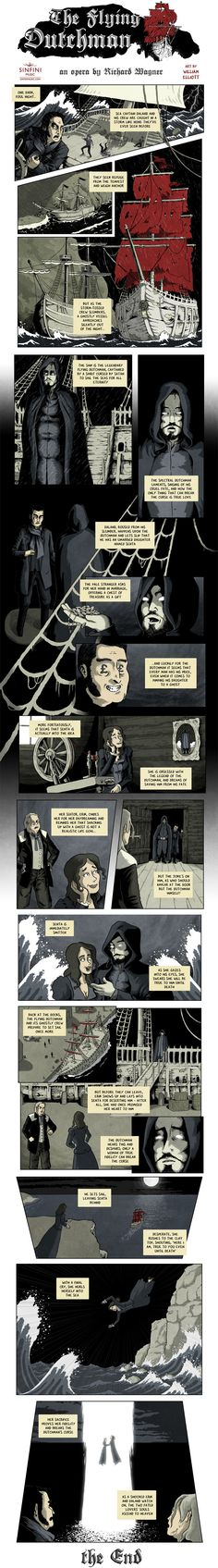 Opera Strip Wagner's The Flying Dutchman: You can hear the terrifying power of the sea pulsing through Richard Wagner's grim tale of a sailor, cursed for eternity, and his desperate attempt to find love and redemption.