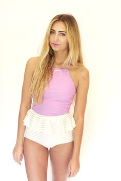 This swim top! only in the red or light blue stripes option :)