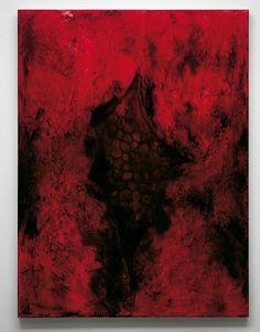 Anish Kapoor, Wound I, paint and wax on canvas, 244 × 183 cm Art Is Dead, Anish Kapoor, India Art, Red Art, Conceptual Art, Horror Art, Public Art, Art Studios, Installation Art