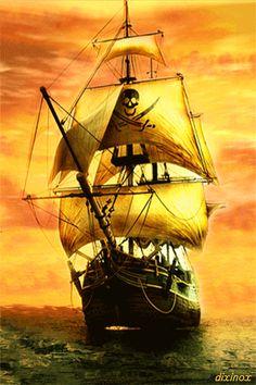 Корабль - анимация на телефон №1428397