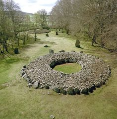 Cairns at Balnuaran of Clava Scotland in 1996