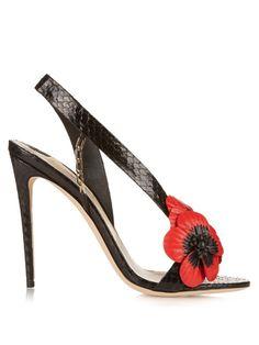 Red Sandals, Black Leather Sandals, Open Toe Sandals, Red Leather, Summer Sandals, Summer Shoes, Heeled Sandals, Python, Embellished Sandals
