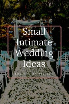 Planning on a small intimate wedding for your big day? Here are some ideas that will keep you within your budget. Ideas on how to plan the ceremony and reception that will still be as romantic a big wedding. If you like what you see be sure to save t Private Wedding, Small Intimate Wedding, Intimate Weddings, Very Small Wedding, Intimate Wedding Reception, Intimate Wedding Ceremony, Small Wedding Receptions, Wedding Venues, Small Backyard Weddings