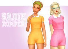 "mini-zen: "" Sadie Romper Nothing fancy, just a simple romper. I believe that the Backyard Stuff Pack is required for this to work, if anybody wants to test it for me, feel free & thanks! Comes in 19..."