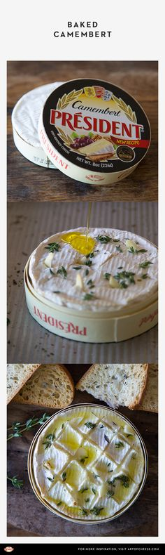 & Garlic Baked Camembert A simple baked Camembert is an elegant holiday treat—especially when it's garlic & thyme recipe.A simple baked Camembert is an elegant holiday treat—especially when it's garlic & thyme recipe. Camembert Recipes, Baked Camembert, Real Food Recipes, Cooking Recipes, Yummy Food, Traditional French Recipes, Thyme Recipes, Baked Cheese, Pub Food