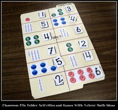 Classroom File Folder Activities and Games With Velcro: Math Ideas