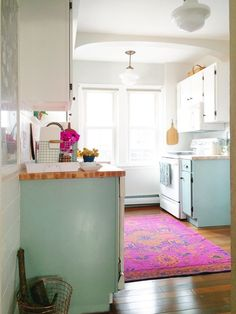 We Sing the Praises of This Bright and Colorful $1,500 DIY Kitchen