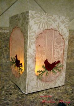 I made this luminaria following the tutorial in the Resources, [url=http://www.splitcoaststampers.com/resources/tutorials/luminary/]Luminaria[/url]  This was fun and I will be making more of these!