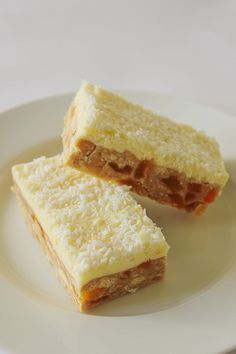 apricot slice with lemon icing