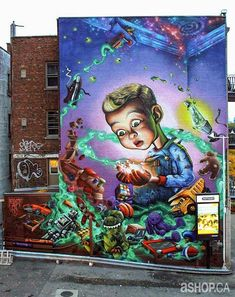 Montreal Street Art – The awesome murals by A'Shop (image)
