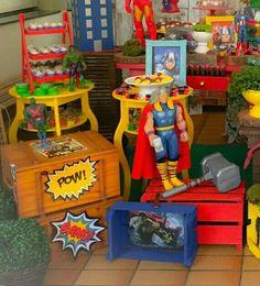Festa dos Super Heróis. #superherois festa dos Super Heróis Heróis  Decoração dos Super Heróis Whattsapp 98325-2545