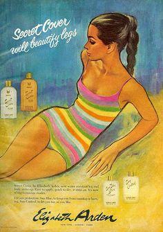 Elizabeth Arden - Secret Cover, 1966 ad