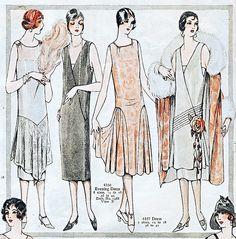 1920s fashion illustrations | Gorgeous 1920s fashion illustration