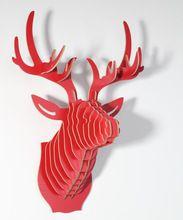 Arte Artesanato objeto do presente Iwood parede veados cortinas decoração muons parede paredes de moda para casa decoração rústica do vermelho log(China (Mainland))
