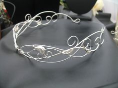 A beautiful headpiece for any themed event such as a Renaissance Festival or Celtic or Elvish\/Medieval wedding!!  This sterling silver circlet is