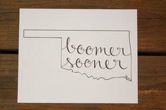 Another state to draw and frame for a Oklahoma house! @Oklahoma Sooners @University of Oklahoma #boomersooner #sooners #OU #decor