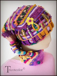 colorful hat by Tricotcolor