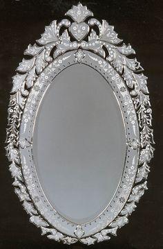 Small Hermosa Oval 44 x 27 venetian mirror