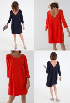 Robe Garance dos nu Une souris dans mon dressing Diy Fashion, Fashion Dresses, Traje Casual, Cocktail Dresses With Sleeves, Diy Clothes, Clothes For Women, Iranian Women Fashion, Fashion Corner, Couture Sewing