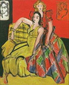 Henri Matisse, Deux jeunes filles, la robe jaune et la robe écossaise (Two Young Girls, The Yellow Dress and Plaid Dress), 1941, Archives. H. Matisse; © 2014 Succession H. Matisse / Artists Rights Society (ARS), New York