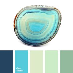Gentle, calm shades of green are good for kitchen or bathroom. Use dark blue, azure and green tea colour with them for accents..