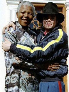 Michael Jackson with Nelson Mandela.