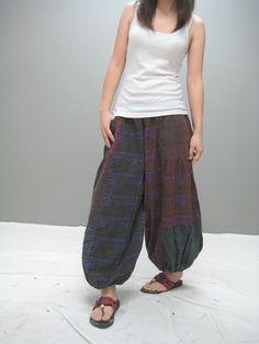 Patchwork Aladdin pants...want.