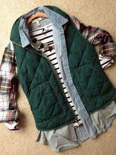 Emerald green vest