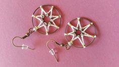 Boucles d'oreille en forme d'étoile à 7 branches : Boucles d'oreille par dalhyna-s-world